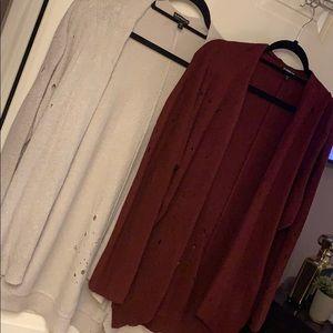 Express cardigan sweater lot